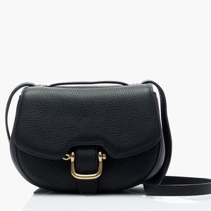 J. Crew Mini Rider Bag in Black Italian Leather